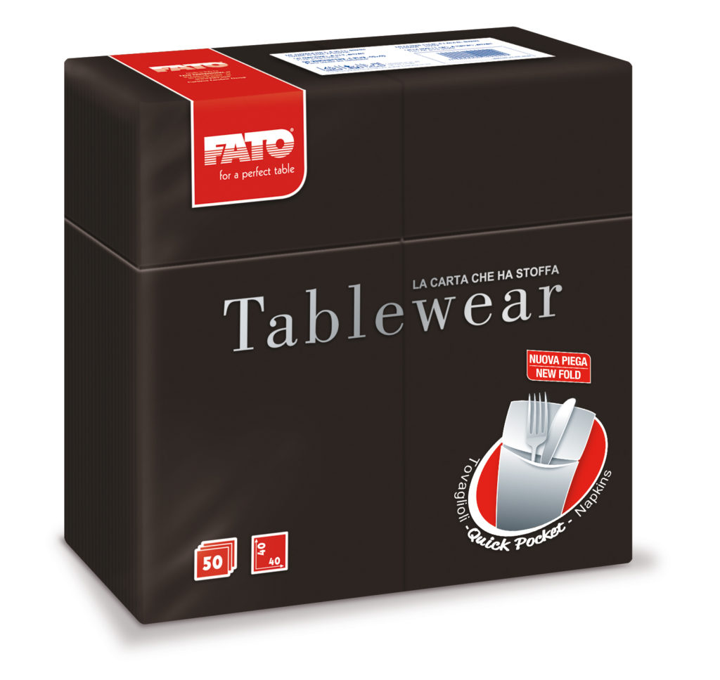 88480400 Tablewear Nero – Quick Pocket – 50 pz